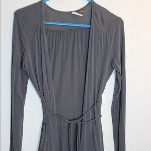 EYESHADOW grey cardigan